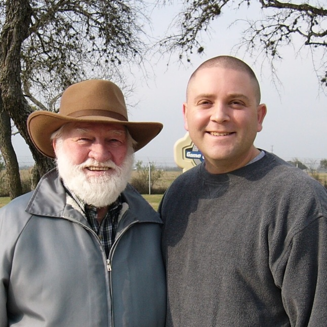 Grampa and me. February 2005